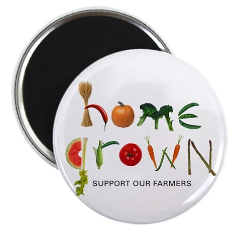 Home Grown. Support our Farme Magnet