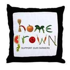 Home Grown. Support our Farme Throw Pillow