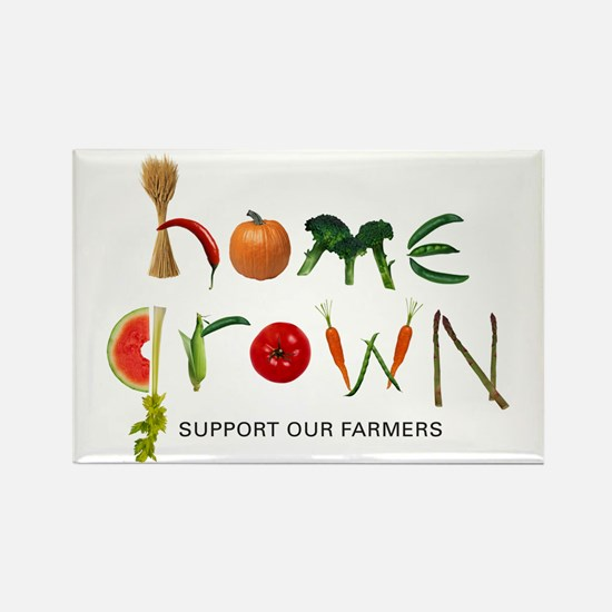 Home Grown. Support our Farme Rectangle Magnet