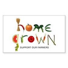 Home Grown. Support our Farme Sticker (Rectangular