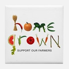 Home Grown. Support our Farme Tile Coaster