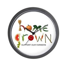 Home Grown. Support our Farme Wall Clock