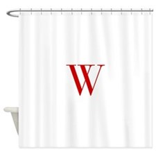 W-bod red2 Shower Curtain