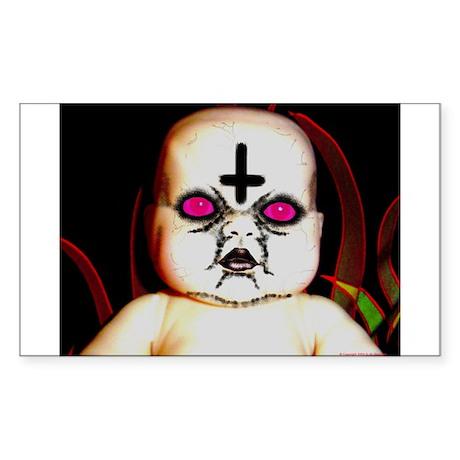Gothic Satanic Baby Rectangle Sticker