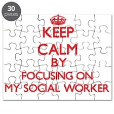 Keep Calm by focusing on My Social Worker Puzzle