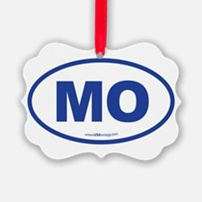 Missouri MO Euro Oval Ornament
