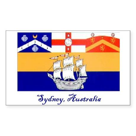 Sydney, AU Flag Rectangle Sticker