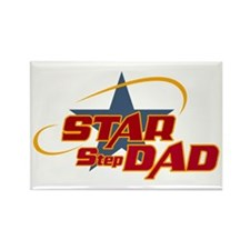Star Step Dad Rectangle Magnet