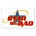 Star Step Dad Rectangle Sticker