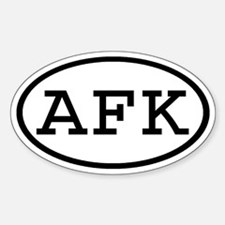 AFK Oval Oval Decal