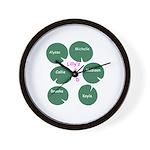 Lilly'z Pad Wall Clock