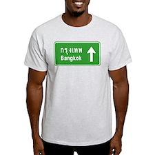 Bangkok Thailand Highway Traffic Sign T-Shirt