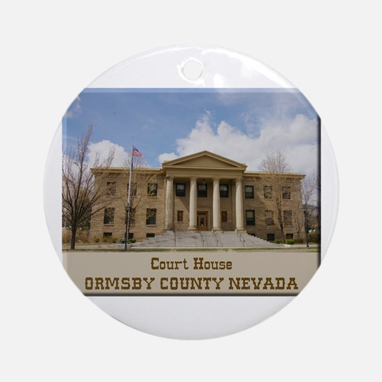 Ormsby County Court House Ornament (Round)