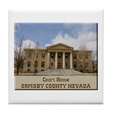 Ormsby County Court House Tile Coaster