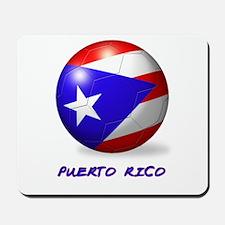 Puerto Rico Flag Soccer Ball Mousepad