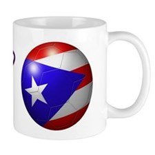 Puerto Rico Flag Soccer Ball Mug