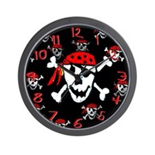 Jolly roger pirate clock Wall Clock