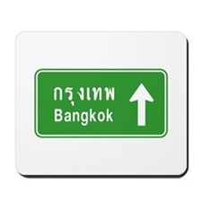 Bangkok Thailand Highway Traffic Sign Mousepad