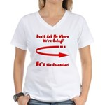 Don't Ask Me Women's V-Neck T-Shirt