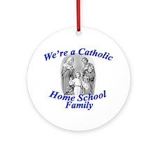 Catholic Home School Family Round Ornament