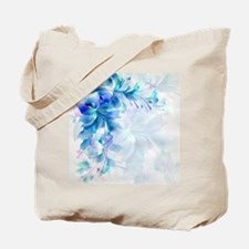 Abstract floral background blue and white Tote Bag