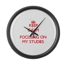 Keep Calm by focusing on My Studi Large Wall Clock