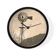 VintageWindmill Wall Clock