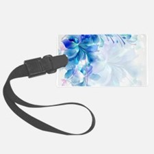 Abstract floral background blue Luggage Tag