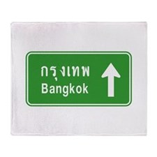 Bangkok Thailand Highway Traffic Sign Throw Blanke