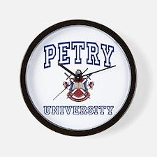 PETRY University Wall Clock