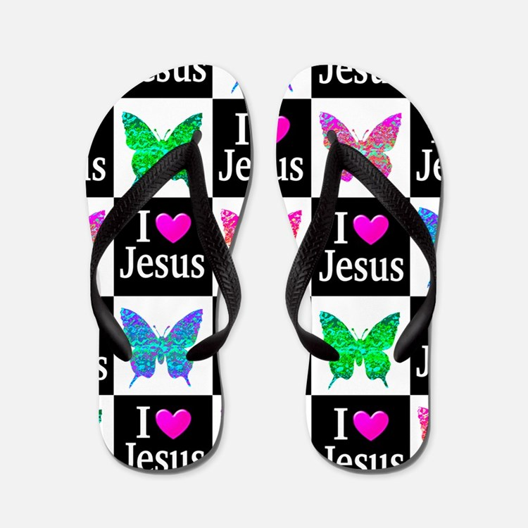 Jesus Loves Me Flip Flops
