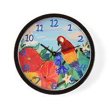 Parrot garden wall clock Wall Clock