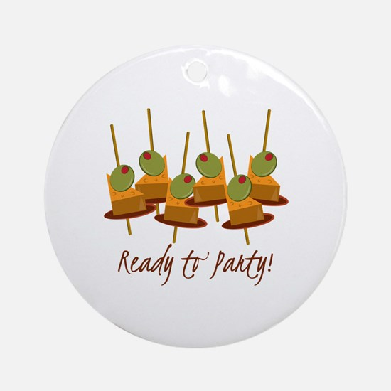 Ready to Party Ornament (Round)