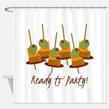 Ready to Party Shower Curtain