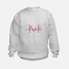Personalized pink monogram Sweatshirt