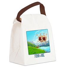 Cute Footprint Canvas Lunch Bag