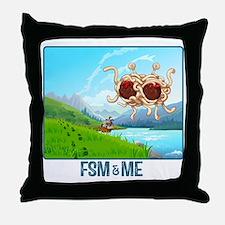 Cute Flying spaghetti monster Throw Pillow