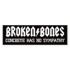 BROKEN BONES BUMPER STICKER