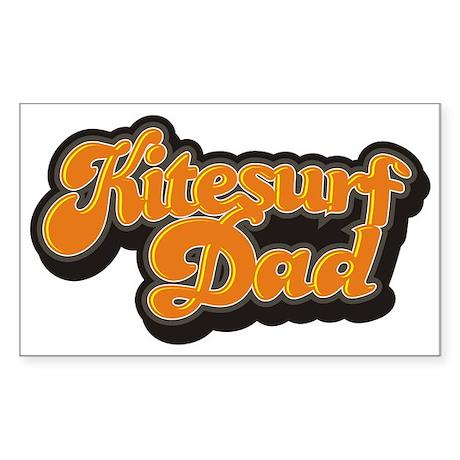 Kite Surf Dad - Clean - Rectangle Sticker