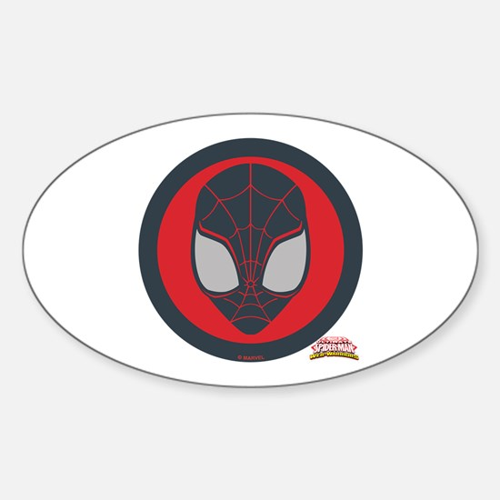 Ultimate Spider-Man Miles Morales I Sticker (Oval)