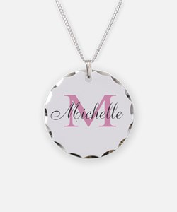 Personalized Pink Monogram Necklace