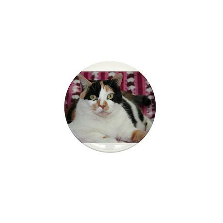 Calico Cat Mini Button