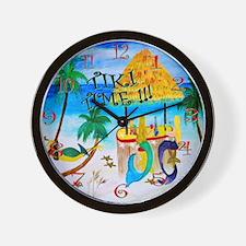 Tiki time wall clock Wall Clock