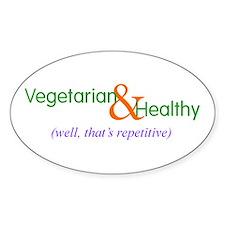 Oval Sticker - vegetarian healthy