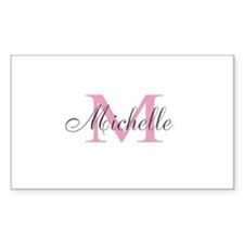Personalized pink monogram Decal