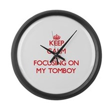 Keep Calm by focusing on My Tombo Large Wall Clock