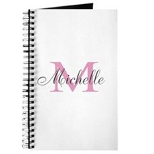 Personalized pink monogram Journal