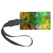 Colorful Abstract Floral Collage Luggage Tag