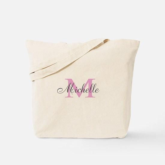 Personalizable Cute Monogram Wedding Tote Bag