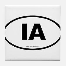 Iowa IA Euro Oval Tile Coaster